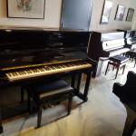 Piano Wilhelm Steinberg 125 IQ, zwart hoogglans. Duitse bouw. Nieuwstaat