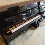 Occasion piano Bechstein W. Hoffmann 117, zwart hoogglans. Renner mechaniek  Euro 3990,-